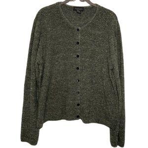 Van Heusen Olive Green Button Down Sweater XL